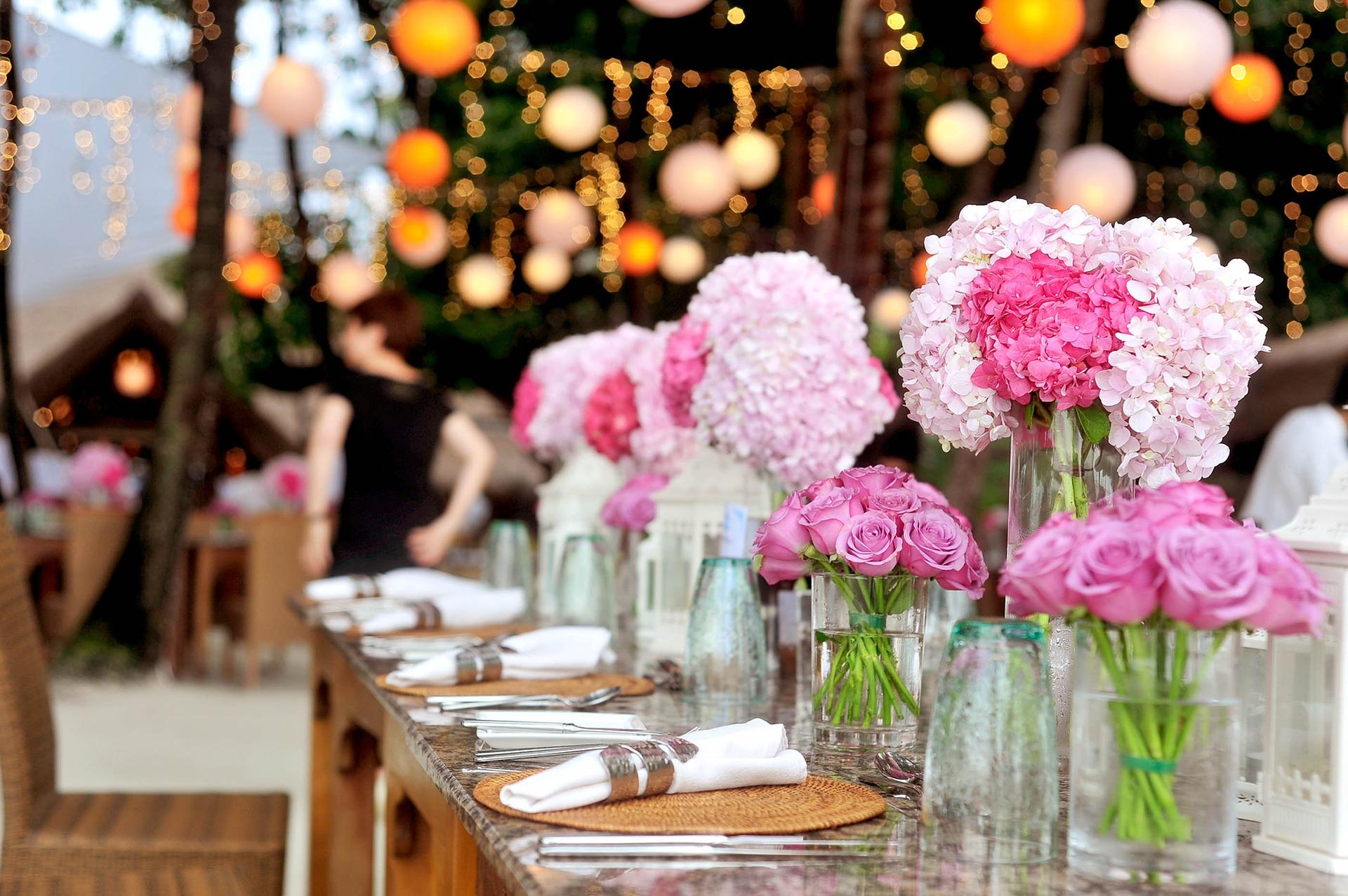 Bruiloft decoratie, in alle vormen, maten en kleuren