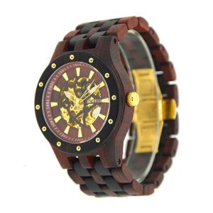 Pretty met een puur natuur houten horloge